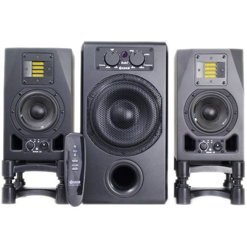 Adam Professional Audio A3X Nearfield Monitors (Pair) and Sub7 Subwoofer Speaker Bundle