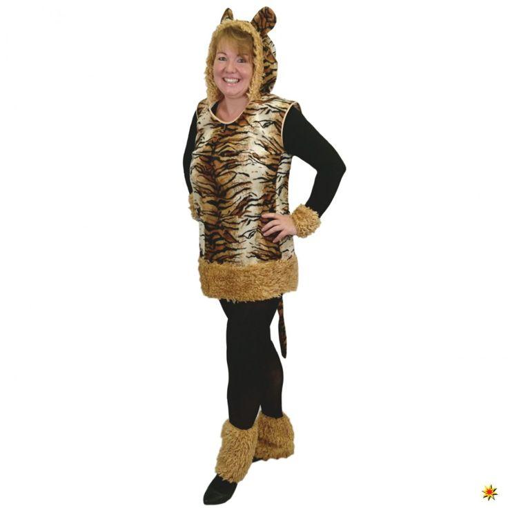Kostüm Tiger Katze Wild Raubkatze Kleid Fasching Mottoparty Zoo Leopard