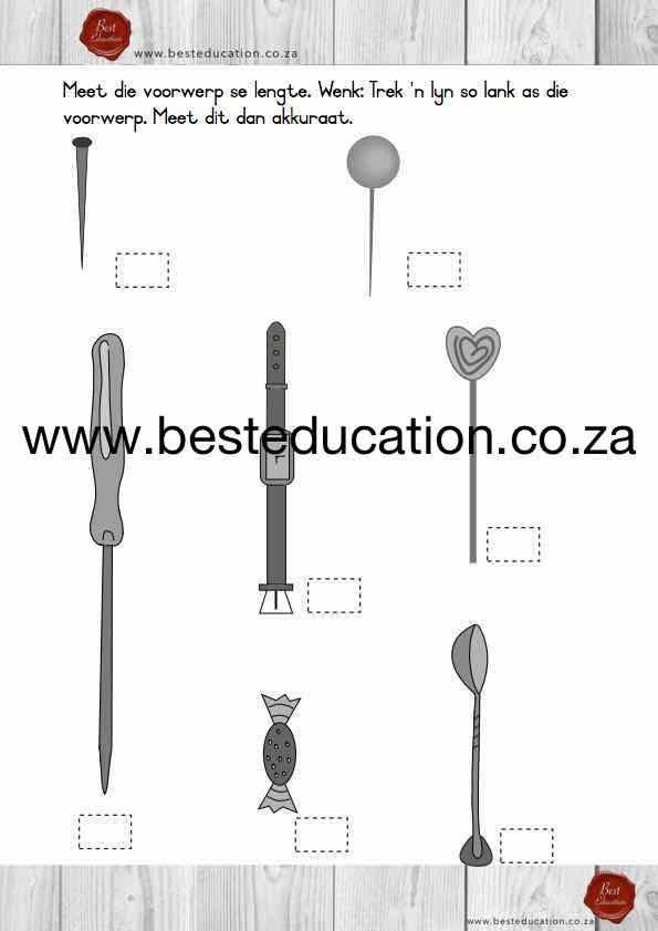 Meet die voorwerp se lengte - Graad 5 Wiskunde www.besteducation.co.za
