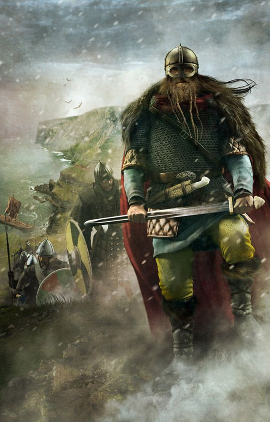 Unos vikingos desembarcando en Inglaterra, por Luca Tarlazzi. Más en www.elgrancapitan.org
