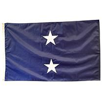 Navy 2 Star General (Seagoing) 3'X5' Nylon Outdoor Flag