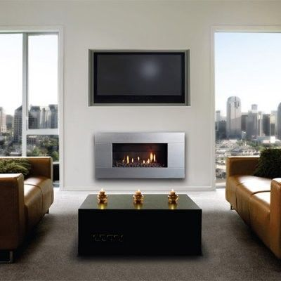 Best 25 modern gas fireplace inserts ideas on pinterest for Contemporary fireplace insert