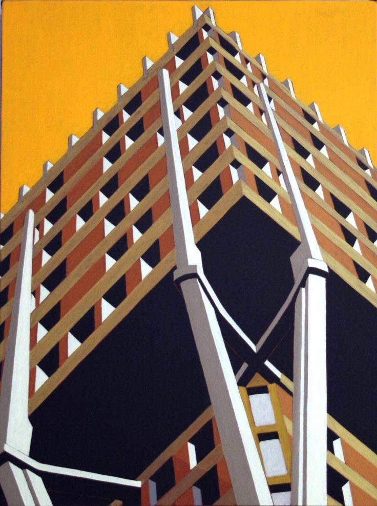 Marco Petrus, Torre, cm 40x30. (Torre Velasca, Milano)