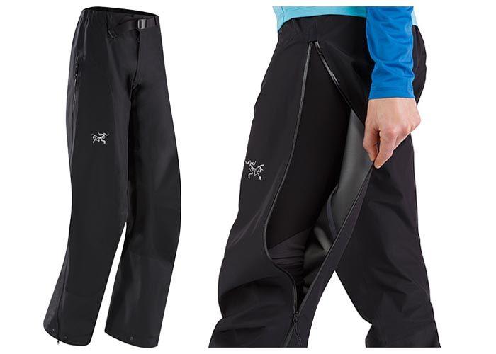 Arc'teryx Zeta LT waterproof hiking pants for women.