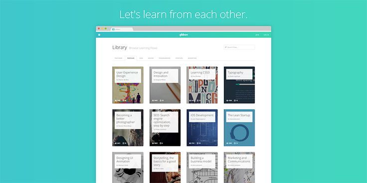 Almost all the knowledge is available on the web, 		all you need is someone to guide you to it. With Gibbon everyone can collect articles, links, videos and books to create a clear path to learn anything.