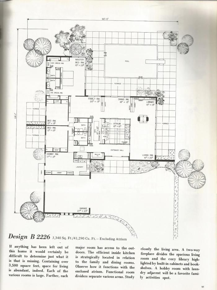 17 best ideas about one story homes on pinterest great for Single story mid century modern house plans
