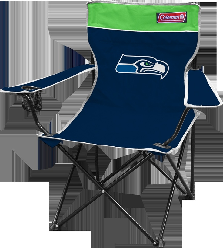 seahawks apparel | Seattle Seahawks NFL Folding Tailgate Chair Coleman Broadband Quad ...