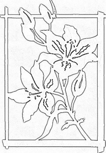 Lilie w ramce