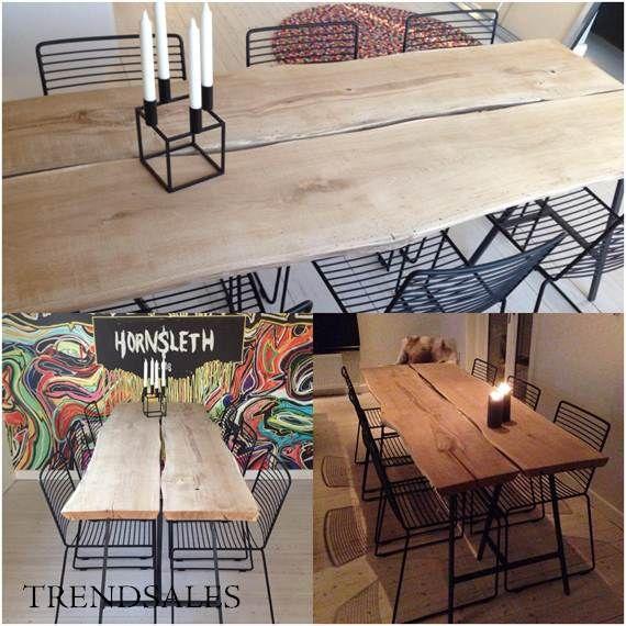 Ukendt - Egetræsbord / plankebord / spisebord