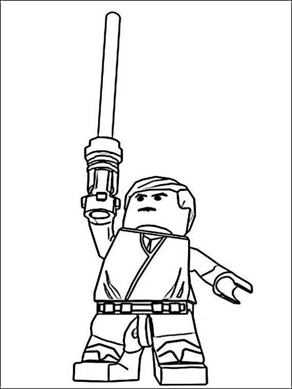 Lego Star Wars 5 Ausmalbilder für Kinder. Malvorlagen zum ...