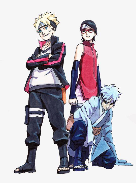 anime naruto boruto next generation: Naruto Next Generation - Boruto, Sarada, Mitsuki