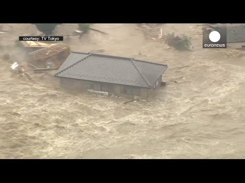 100,000 evacuated: Houses violently swept away in raging floodwaters, Japan