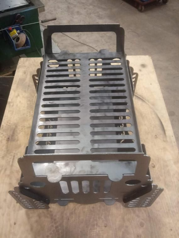 Jeep Fire Pit And Grill 11 Gauge Steel Heavy Duty Take Apart Etsy In 2020 Fire Pit Take Apart Custom Fire Pit