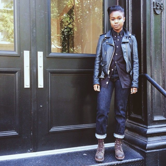 Inspired Outfit: Moto and Button-front - Already Pretty | Where style meets body image