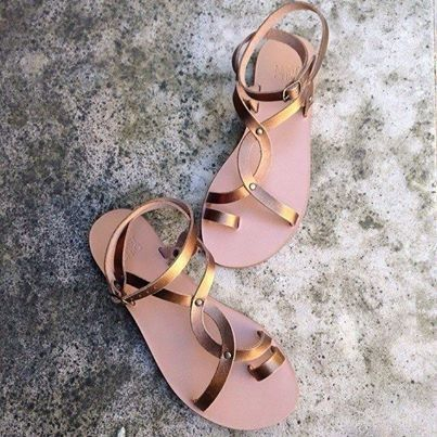 """The one and only ...""""jasmin"""" bronze, the Most Chic Sandals collection will arrive soon ! @Molly Simon Strauss-chic.com"""