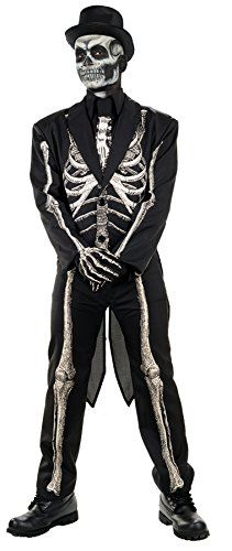 UHC Mens Bone Chillin Skeleton Coat w Tails Horror Theme Halloween Costume Plus >>> More info could be found at the image url.