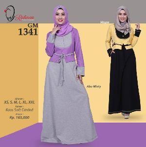 Baju Gamis Wanita Rahnem Model GM 1341 - Promo Ramadhan Sale