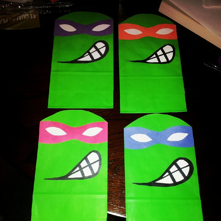 *no link There's like no Teenage Mutant Ninja Turtles party supplies that I cared for  spending ridiculous amounts of money for so I made these for Elier's party