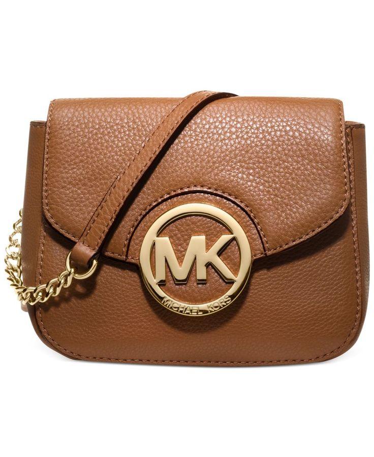 Find this Pin and more on Michael Kors. Get Michael Kors Fulton Small  Messenger Cinnabar Crossbody Leather Bag Handbag ...