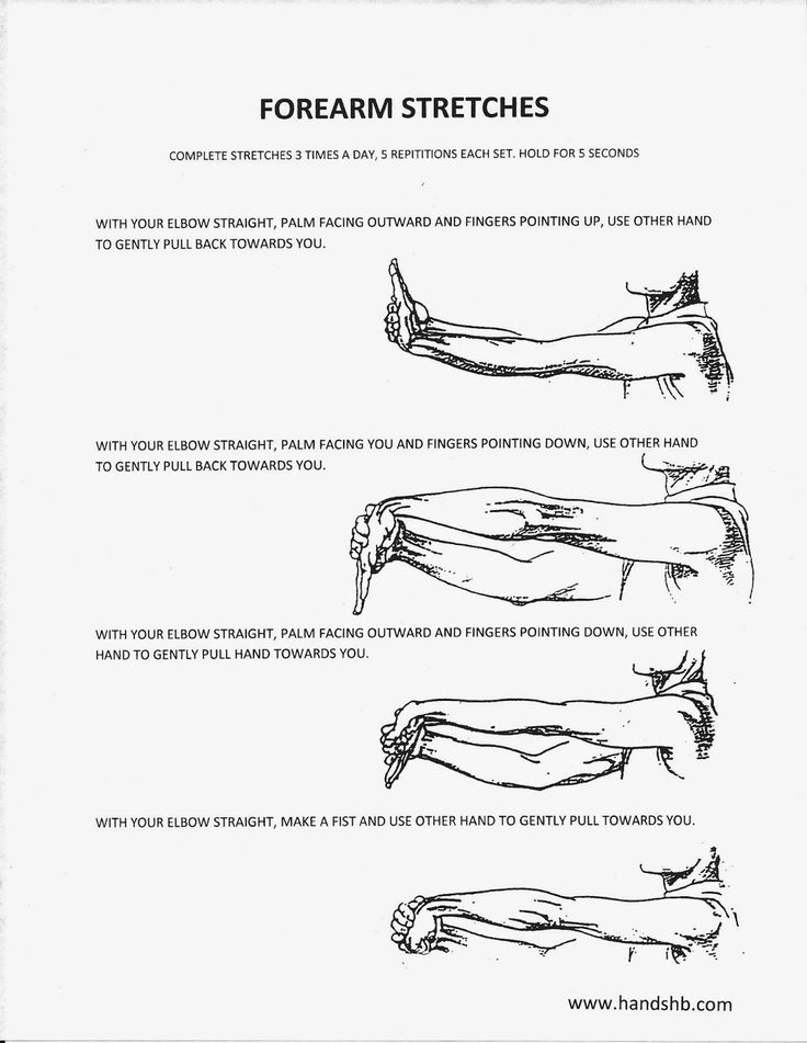 HB Hands: Forearm Stretches. Fingers pointing down only.