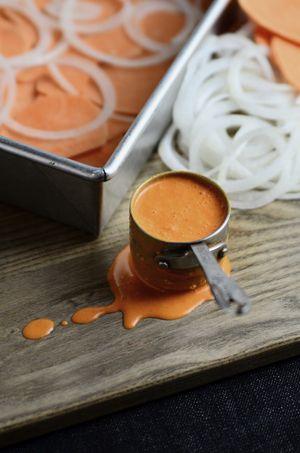 Smoked Paprika Sauce | Smoky Scalloped Sweet Potato Onion Dip{dairy-free} - Seed Plant Water Grow:)