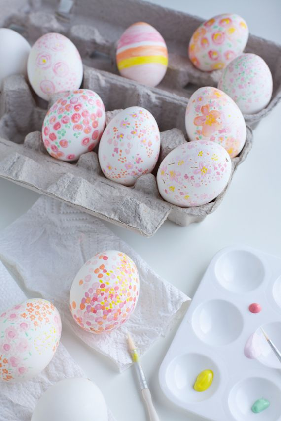 Water colored eggs
