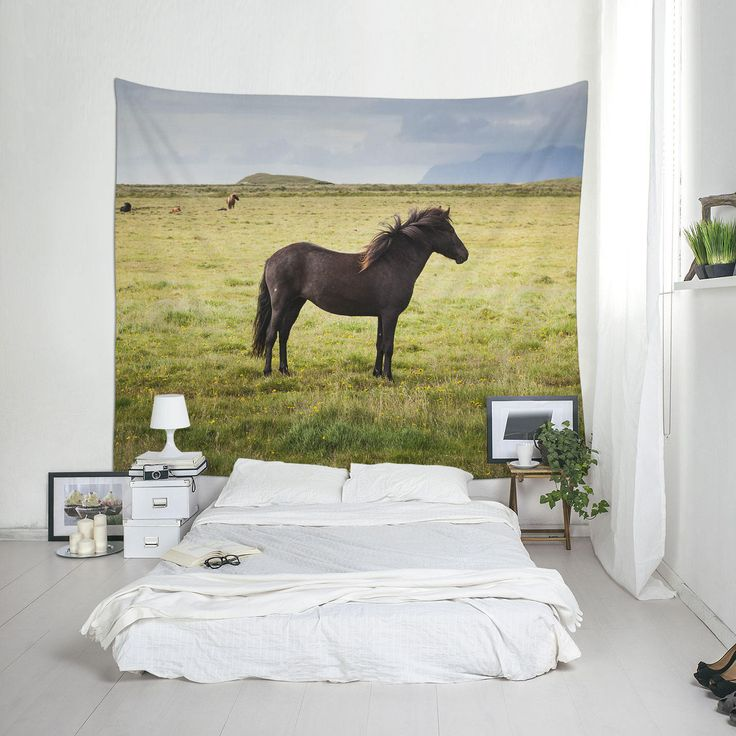 Animal Tapestry, Horse Photography, Icelandic Horse, Tapestry for Guys, Wall Blankets, Tapestry Online, Iceland Tapestry by Macrografiks on Etsy