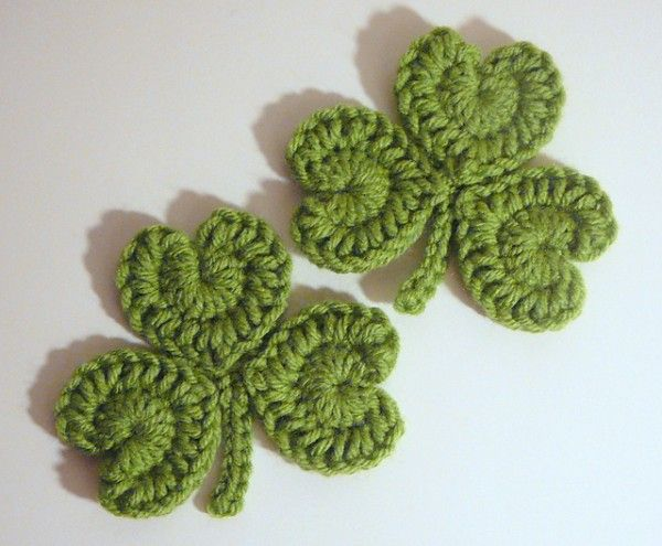 18 #Crochet Clovers and Shamrock Patterns for St. Patrick's Day  