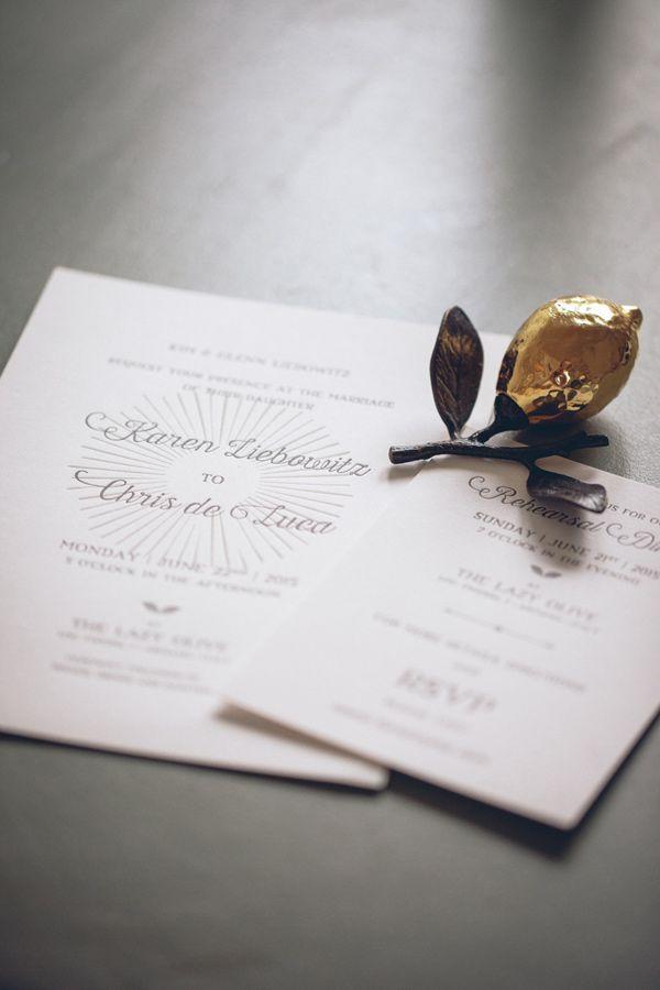 letterpress wedding invitation - photo by Lelia Scarfiotti http://ruffledblog.com/organic-destination-wedding-in-tuscany