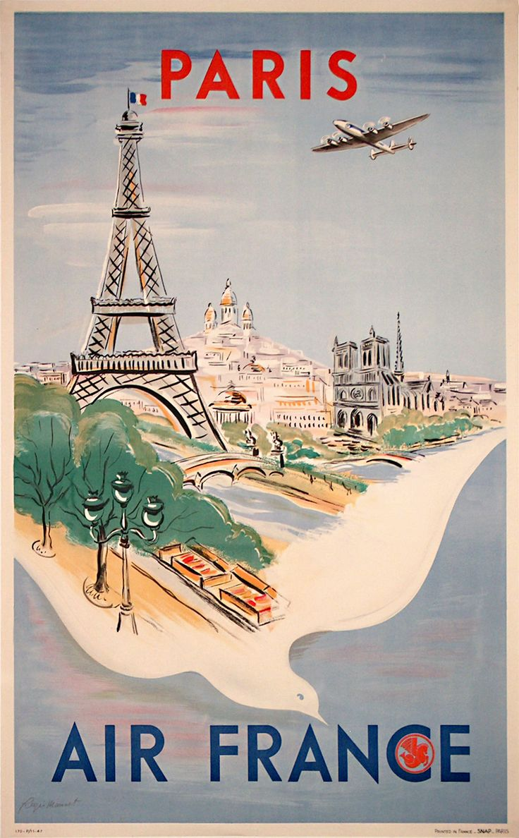 affiche pub air france paris