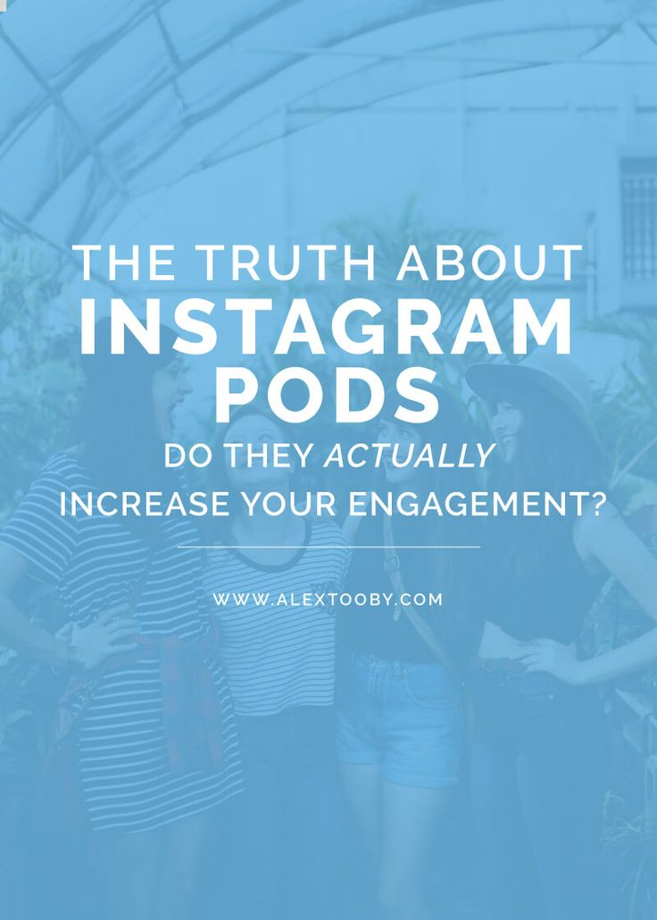Has your Instagram engagement decreased lately? If so you might want to join an Instagram Pod! This blog post by Alex Tooby explains exactly what an Instagram Pod is, if they actually work and how to make the most of the ones you're in! Great read