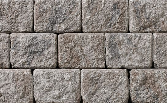 Ortana Plus Mountain Wall by Oaks Landscape Products. Ortana Plus can be easily converted for designs that feature double-sided walls, seat walls and driveway borders. This durable product offers limitless applications as timeless as they are appealing.