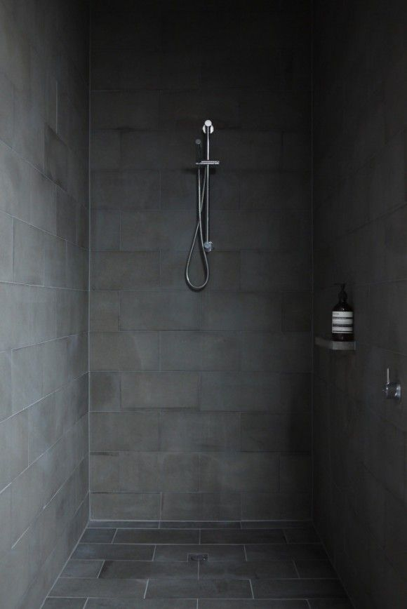 texture stone shower modern dark bathroom  Japanese Trash masculine design obsession inspiration