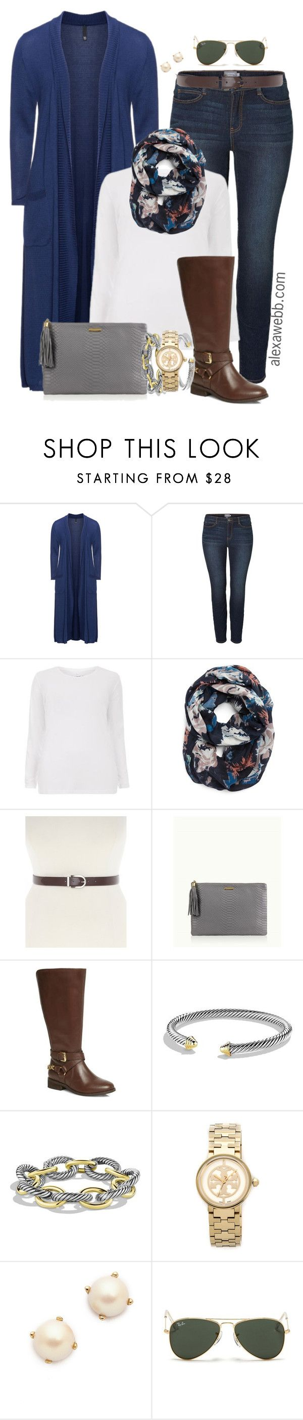 """Plus Size Fashion - Casual Wear"" by alexawebb ❤ liked on Polyvore featuring Manon Baptiste, JunaRose, Halogen, Lane Bryant, GiGi New York, David Yurman, Tory Burch, Kate Spade, Ray-Ban and plussize"