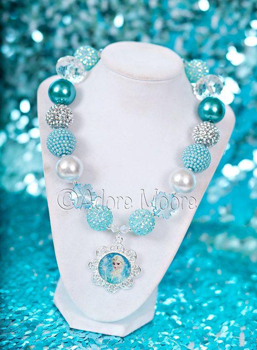 Princess Elsa Frozen Necklace Disney Frozen by AdoreMooreBoutique, $22.00