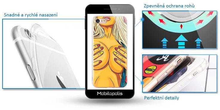 Silikonový kryt na iPhone 6, 6s - iRaptor ComicsSeries sexy motive RPA003