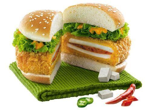 Paneer Zinger @ KFC in India - deep fried paneer cheese