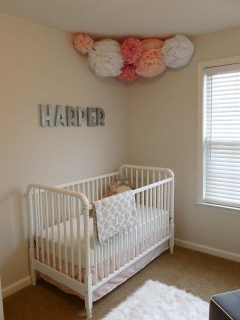 Nursery: Jenny Lind, Baby Garvin, Pom Poms, Paper Flower, Girls Room, Baby Girls, Baby Room, Girls Nurseries, Babies Rooms