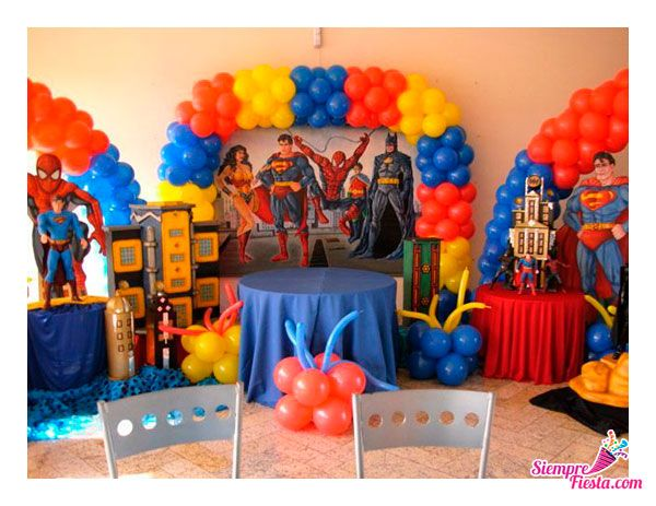 33 best images about fiesta de la liga de la justicia on - Todo para tu fiesta infantil ...