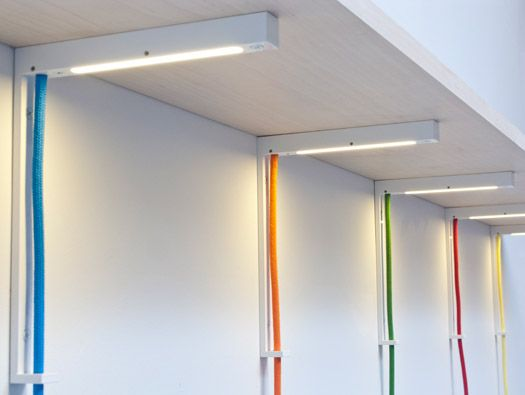 Lightbracket Shelving/Lighting by Alex Allen