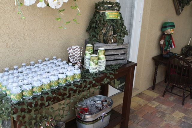 17 best ideas about army party decorations on pinterest for Army theme party decoration ideas