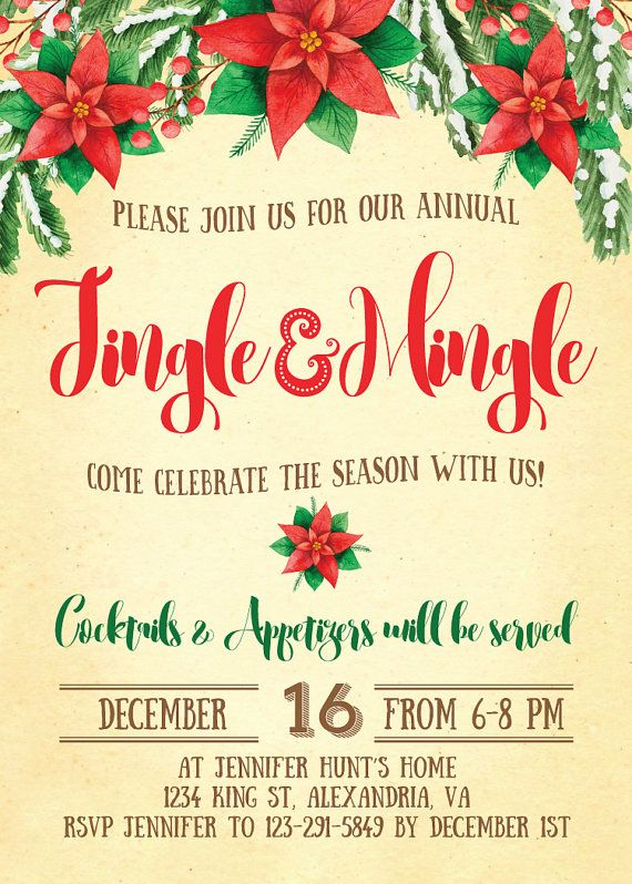 17 best RSCF Holiday party invitations images on Pinterest - free christmas invitations printable template