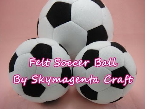 Hello ! Today we are going to make a felt soccer ball. Hope you will enjoy this. Get your template here : http://www.skymagenta.com/2014/07/felt-craft-tutori...
