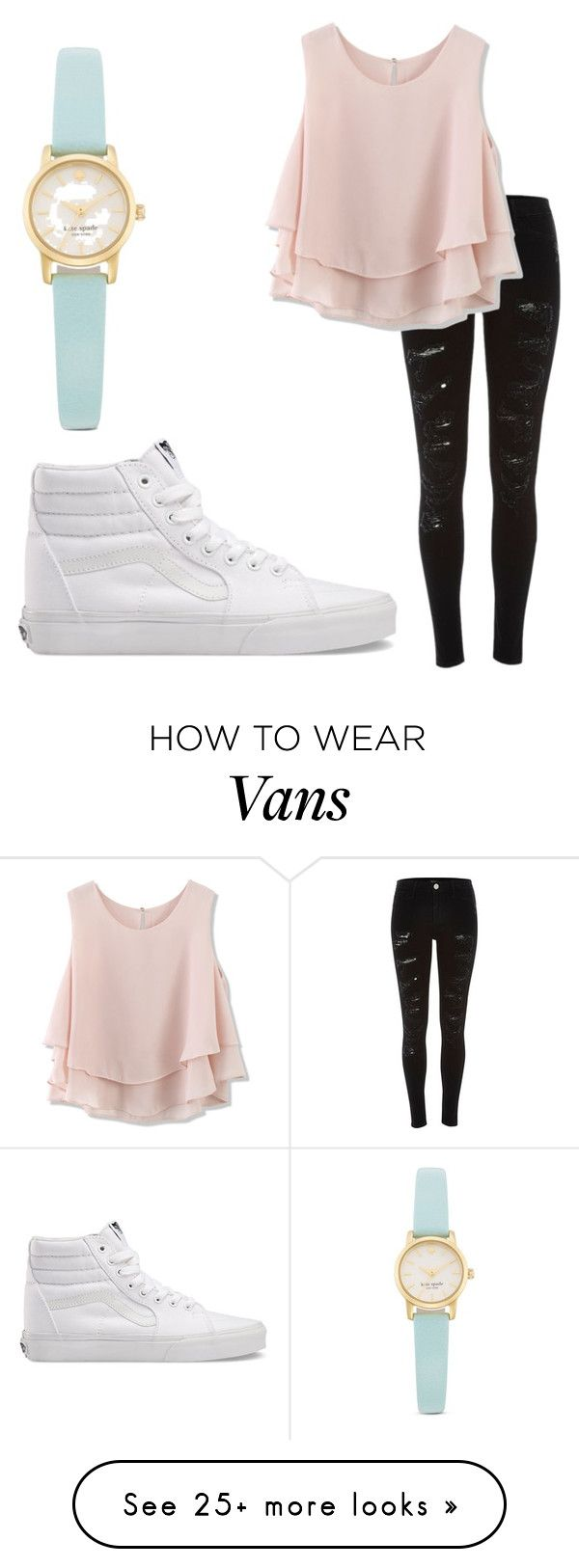 """""""#31"""" by cutiepieluke on Polyvore featuring River Island, Chicwish, Kate Spade and Vans"""