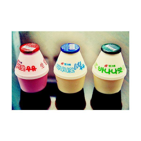 korean food - banana milk and strawberry milk 바나나 우유, 딸기 우유