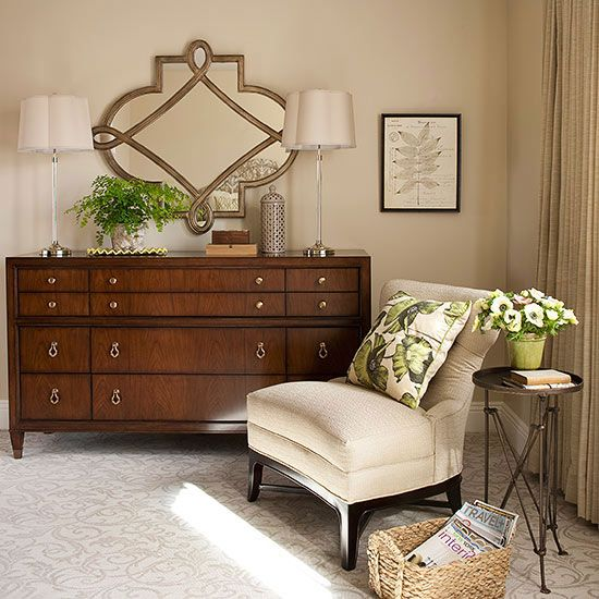 Keep magazines/books neatly in near reading chair..