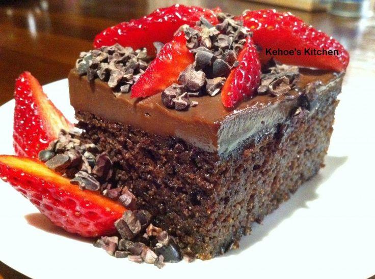 Gluten, dairy and sugar free choc mud cake