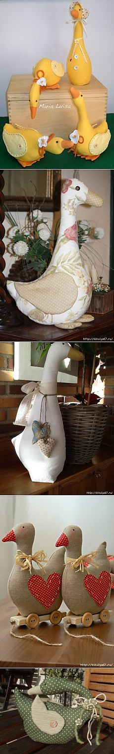 Geese, ducks fabric.  Workshops and ideas