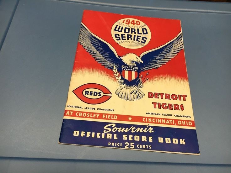 1940 WORLD SERIES GAME ORIGINAL PROGRAM..DETROIT TIGERS AT CINCINNATI REDS | eBay