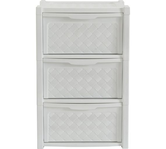 Buy HOME 3 Drawer Rattan Effect Tower Storage Unit at Argos.co.uk - Your Online Shop for Plastic storage boxes and units, Storage, Home and garden.